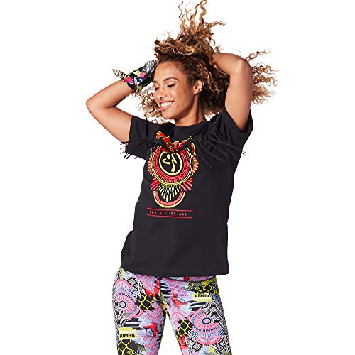 Zumba Lockere Passform Dance Fitness Sport Top Modisch Sportoberteile für Damen