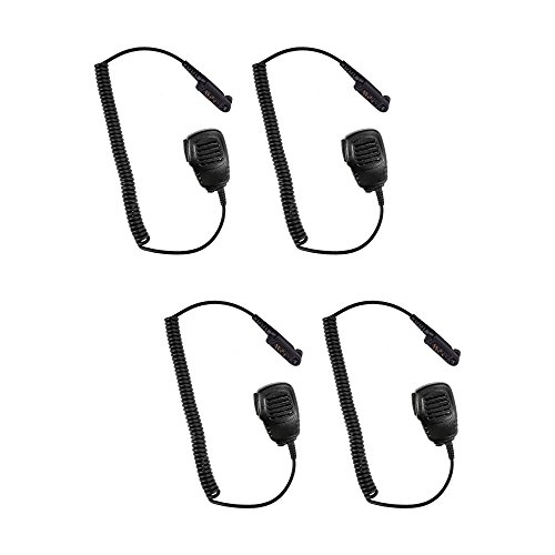 - 4 Pack Maxtop 4PS-APM100-H6 Light Duty Shoulder Speaker Microphone for Hytera HYT PD602 PD662