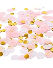 Whaline 2.5cm Round Tissue Confetti Paper Table Confetti Dots for Wedding Party Baby Shower and Balloon Decorations, 70ml/ 6000 pcs