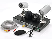 4 Channel DVR System Secure View - 2 Indoor + 2 Outdoor Cameras, 700TVL, 500GB HDD, H.264