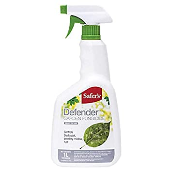 Safer's Defender Garden Fungicide 1L Ready-to-Use Spray Bottle - Control  Black spot, powdery Mildew, Rust, and More