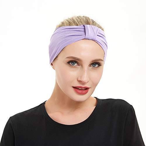 Women Yoga Fashion Workout Running Athletic Travel. Wear Wide Turban Thick Knotted + More.Original Multi Style Headband. Comfort Stretch & Versatility by Dsane