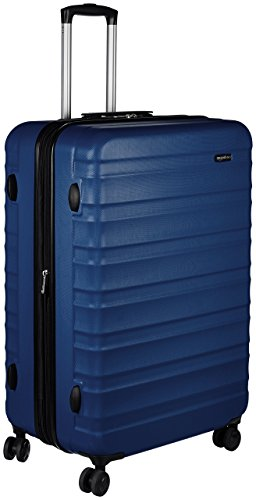(AmazonBasics Hardside Spinner Luggage -  28-Inch, Navy Blue)