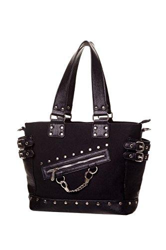 Banned-Handcuff-Handbag-Black-or-Striped