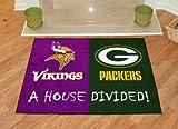 House Divided: Minnesota Vikings – Green Bay Packers Rug