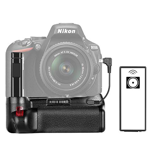- Neewer Professional Vertical Battery Grip Work with EN-EL14A Rechargeable Battery for Nikon D5600 and D5500 DSLR Camera (Battery Not Included)