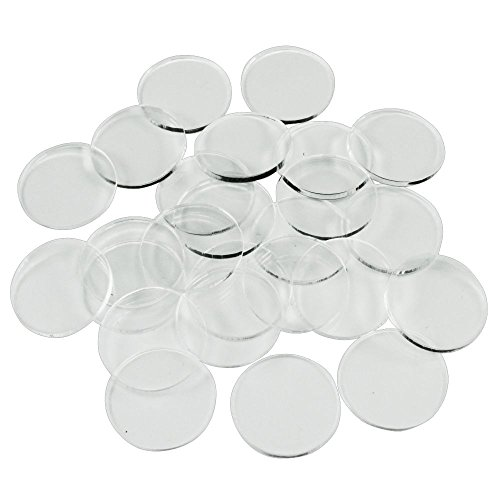 - 1.5mm Clear Miniature Bases, Circular 20mm (25)