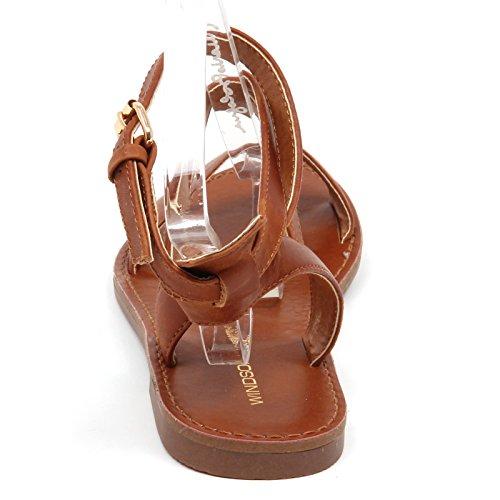 Vintage Donna D5348 Woman Box without Sandalo Brown Windsor Marron Shoe Smith 0cnHWzR