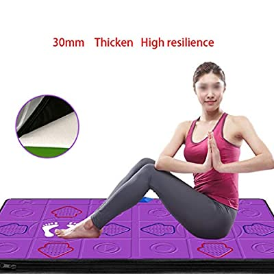 Dance mat Quality Adult and Dance Rug for Kids, Wireless TV HDMI Interface for Home Weight Loss Yoga Hand Dance Somatosensory Dancing Machine Pu -2020 (Color : Pink, Size : 13MM): Home & Kitchen