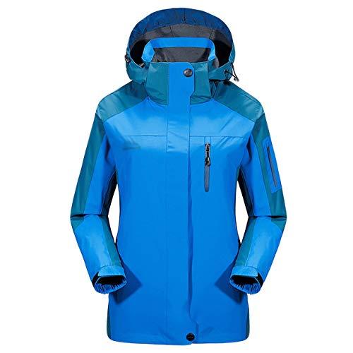 Capuche Blue Pour Zipper Pocket À De Montagne L'eau Travail Sport Épaissie Coupe Veste vent Manteaux Vêtements Imperméable Femmes 60ZqxZTw
