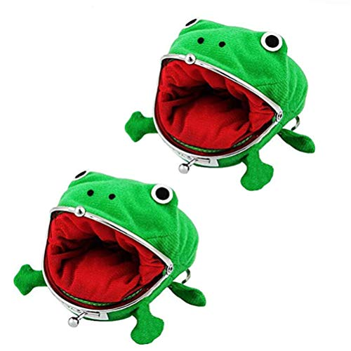 Poluka 2 Pcs Frog Coin Wallets Frog Coin Purse Headset Bag Cartoon Animal Wallet Coin Bag Coin Pouch Key Credit Card Holder Novelty Toy School Prize Gifts Christmas Gift (Frog Purse Naruto)