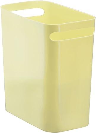 Cocina o ba/ño InterDesign Una Papelera de Reciclaje con Asas Papelera de Oficina Cubo de Basura de pl/ástico