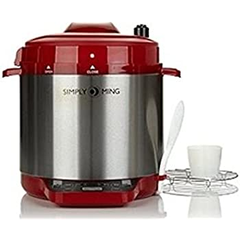 Simply Ming Premiere Gourmet Pressure Cooker with Technolon ~ Red
