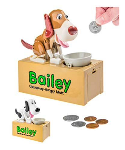 Bailey The Dog Bank Animatronic Canine Coin Storage Gift Toy from Unknown