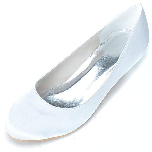 Schuhe Mode Qingchunhuangtang Satin Seide Party Flachbild Hochzeit einfach täglich Schuhe Bankett Schuhe 071qS