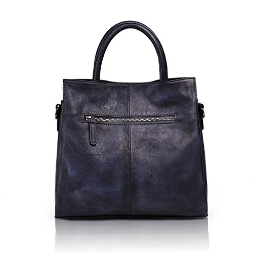 Aphison Designer Soft Leather Totes Handbags for Women, Ladies Satchels Shoulder Bags (BLACK) by APHISON (Image #2)