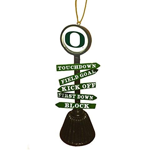 Oregon Ducks Santa - Team Sports America University of Oregon Fan Crossing Ornament