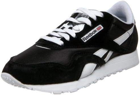 UK Reebok Classic Nylon W Shoes Black White 6606