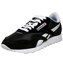 Reebok Nylon Sneaker, Classic Black/White, 5 M US