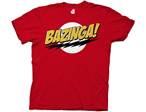 T Shirt   Big Bang Theory   Bazinga  No Face   Xl   Red
