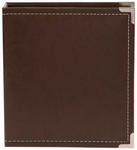 4040 Studio - Simple Stories Faux Leather Binder, 6 by 8-Inch, Brown