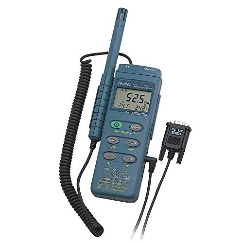 Tecpel Digital Handheld Humidity Thermo Hygrometer Data Logger Recorder DTM-322