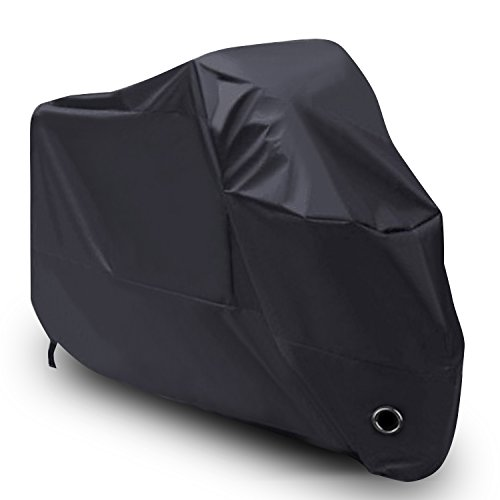 LIHAO Waterproof Motorcycle Cover Shelter Rain UV All Weather -