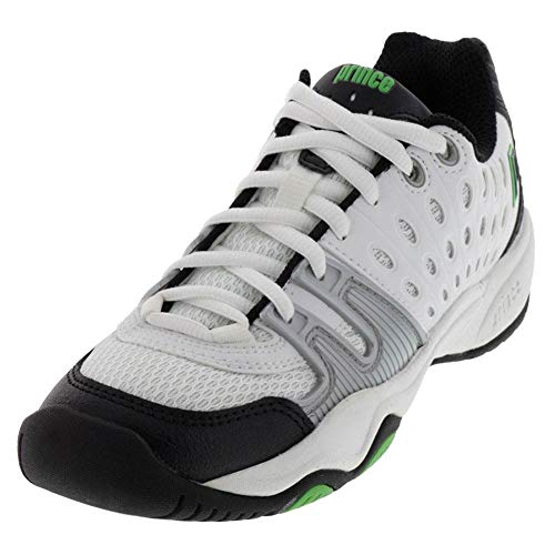 (Prince Kids' 8P310149-T22 Jr Tennis Shoe,White/Black/Green,1 M US Little Kid)