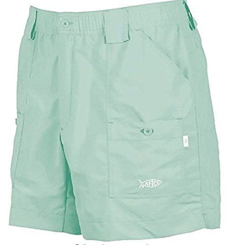 AFTCO Bluewater M01 Traditional Fishing Shorts, Mint, Size 34