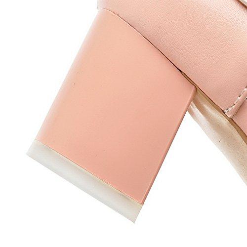 Muoti Sandaalit Toe Polyuretaani Teräväkärkiset Adee Naisten Kiinteä Vaaleanpunainen IWFxI5Yq