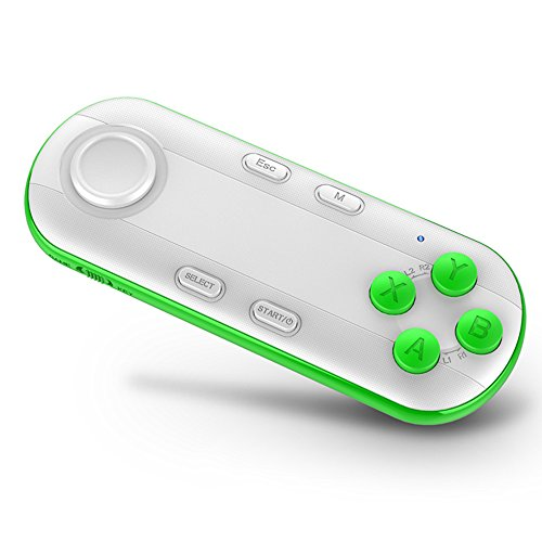 VR Contoller,Loietnt Wireless Bluetooth Gamepad VR Remote for Compatible with 3D VR Headset Glasses, Android and PC for Playing 3D VR Games/Handheld Self Stick(White Contoller)