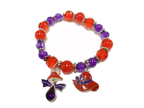 Great Deals! Stretch Bracelet / Angel & Hat Charms / Red Hat (Red Hat Society Charms)
