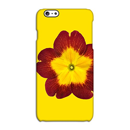Red Flower On Yellow Deflector Back Case for Apple iPhone 6 6S Plus