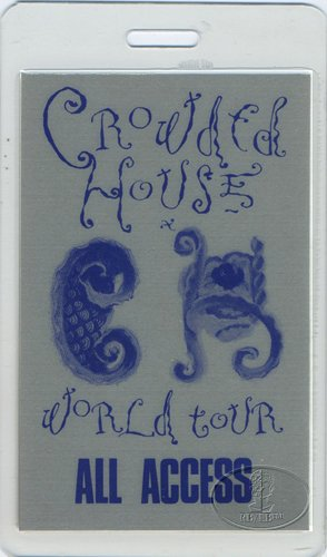 Crowded House 1988 Laminated Backstage Pass Neil (Laminated House)