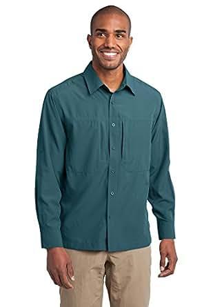 Eddie Bauer - Long Sleeve Performance Travel Shirt, Gulf Teal, XXX-Large