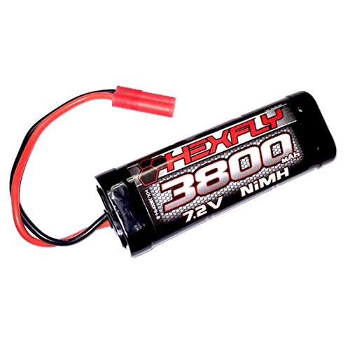 Redcat Racing HX-3800MH-B Version 4.0 3800 Ni-MH Battery-7.2V with Banana Connector