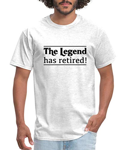 Spreadshirt The Legend Has Retired Men's T-Shirt, S, Light Heather Grey
