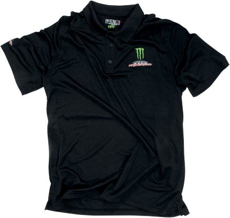 Pro Circuit Monster Polo Shirt , Primary Color: Black, Size: Sm, Distinct Name: Black, Gender: Mens/Unisex PC12118-0210