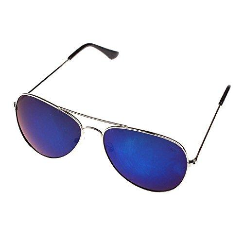 classique de Covermason femmes en soleil lunettes Lunettes unisexe Armature Soleil bleu hommes rétro De ruban métal qzwxWYpS