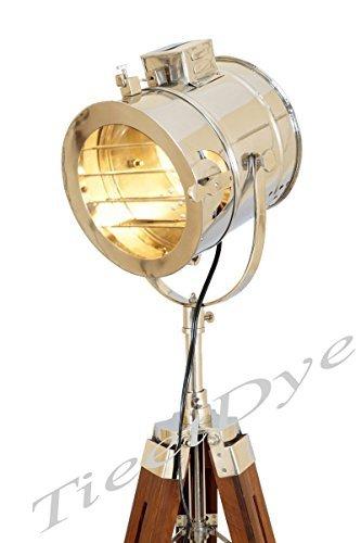 TieetDye Vintage Marine Floor Lamp, Nautical Spot Studio Tripod Floor Lamps Search Light by TieetDye