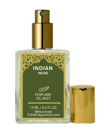 Indian Musk Perfume Oil Mist (no Alcohol) Musk Oil Parfum by Zoha Fragrances, 15ml/0.5fl Oz