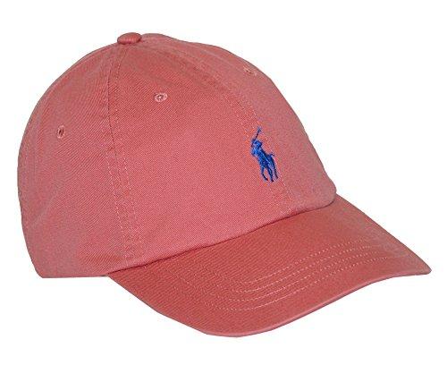 Mens-Polo-Ralph-Lauren-Classic-Cotton-Chino-Baseball-Sports-Cap-Hat-Salmon