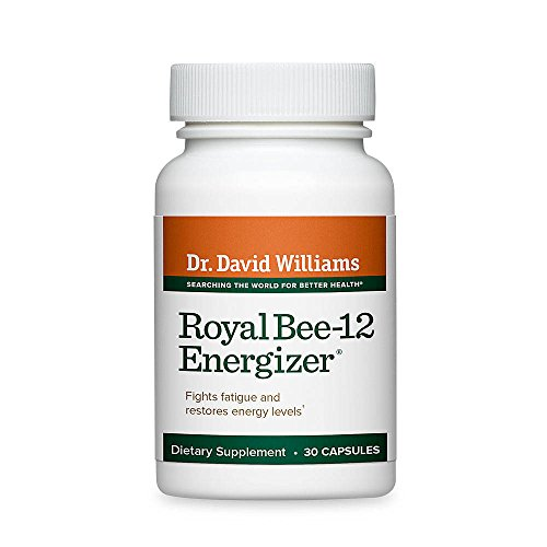 Dr. David Williams' Royal Bee-12 Energizer Energy Supplement Provides Lasting Energy, 30 Capsules (30-Day Supply)