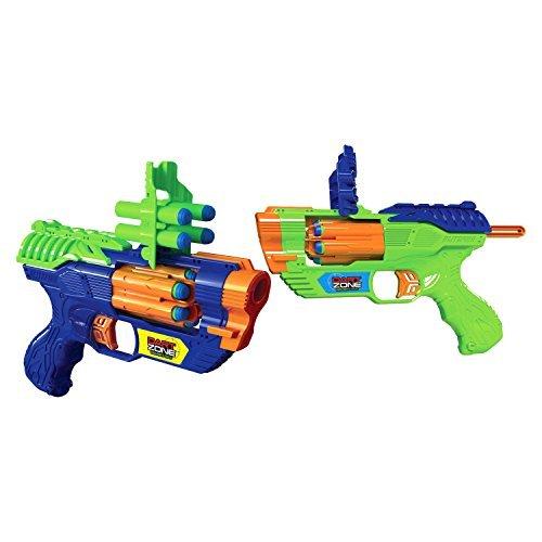 2 Shot Pistol (Dart Zone BlitzFire Quick - Shot Blasters - 2 Pack)