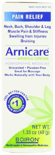 Boiron Arnicare Cream for Muscle Aches, 1.33-Ounce Tubes (Pack of 4)