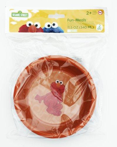 Evriholder Sesame Street 3D Fun Mealz Bowls Elmo Set Of 2