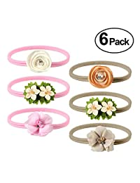 Headband, PAMIYO Baby Girl Nylon Floral Hairband Photography -Elastic Design