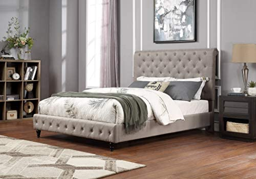 Best Master Furniture Kathy Upholstered Fabric Platform Bed