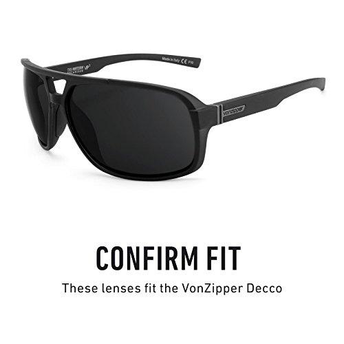 Verres de rechange pour Von Zipper Decco — Plusieurs options Noir - Non-Polarisés