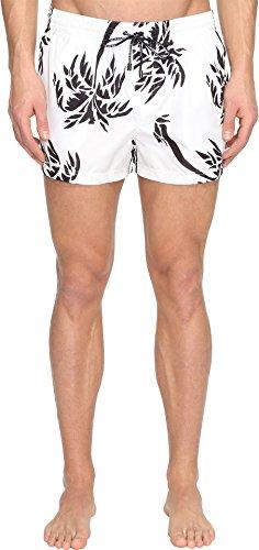 Dolce & Gabbana Men's Palm Tree Swim Trunks White Swimsuit Bottoms by Dolce & Gabbana